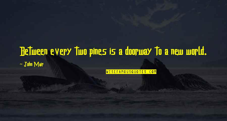 Pines Quotes By John Muir: Between every two pines is a doorway to