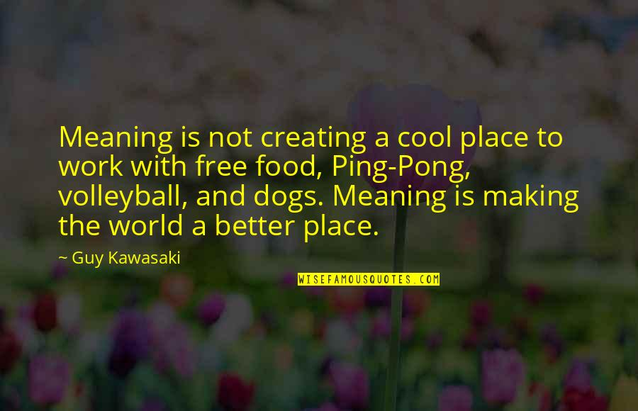 Ping's Quotes By Guy Kawasaki: Meaning is not creating a cool place to