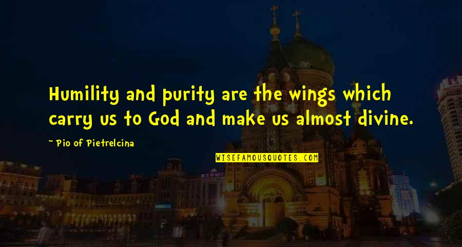 Pio Pietrelcina Quotes By Pio Of Pietrelcina: Humility and purity are the wings which carry