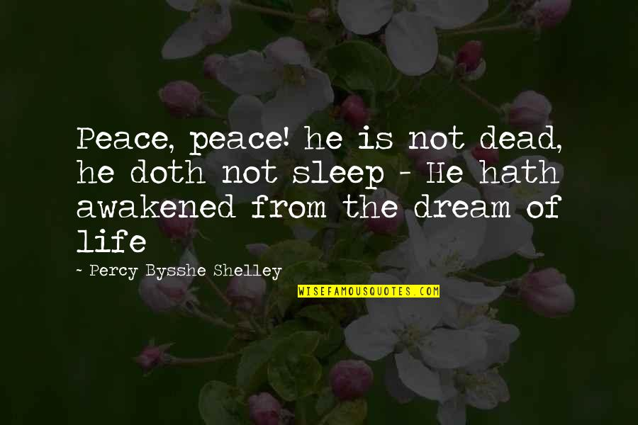 Pissed Quotes And Quotes By Percy Bysshe Shelley: Peace, peace! he is not dead, he doth