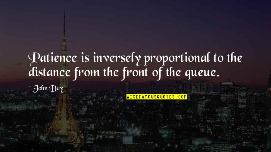 Pistola Quotes By John Day: Patience is inversely proportional to the distance from