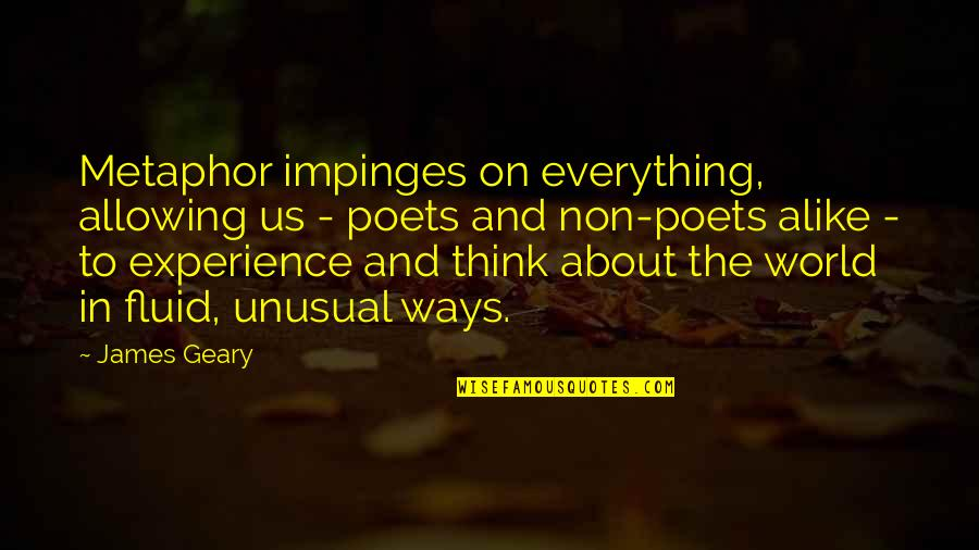 Pit Bull Terrier Quotes By James Geary: Metaphor impinges on everything, allowing us - poets