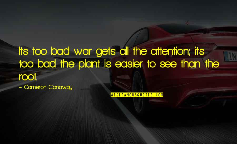Piteously Quotes By Cameron Conaway: It's too bad war gets all the attention;