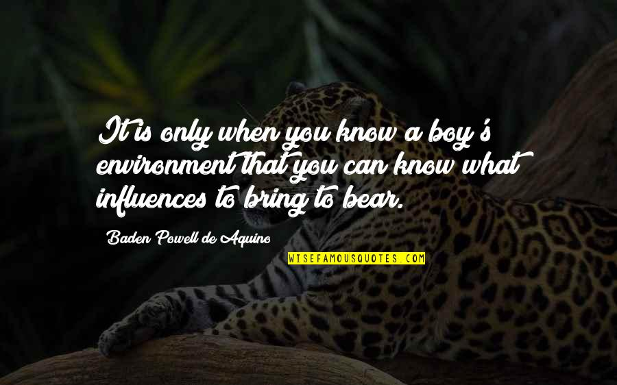 Plagiarism Relating To Art Quotes By Baden Powell De Aquino: It is only when you know a boy's