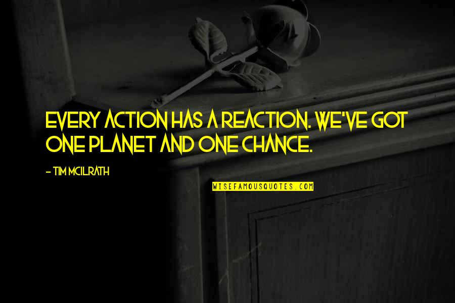 Plagiarism Relating To Art Quotes By Tim McIlrath: Every action has a reaction. We've got one