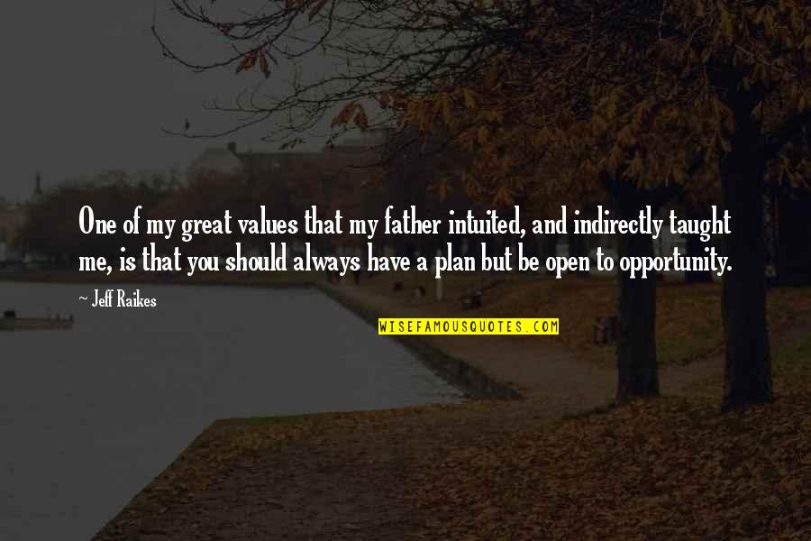 Plan A And B Quotes By Jeff Raikes: One of my great values that my father