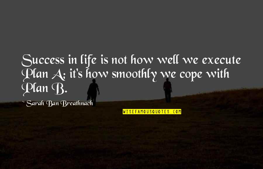 Plan A And B Quotes By Sarah Ban Breathnach: Success in life is not how well we