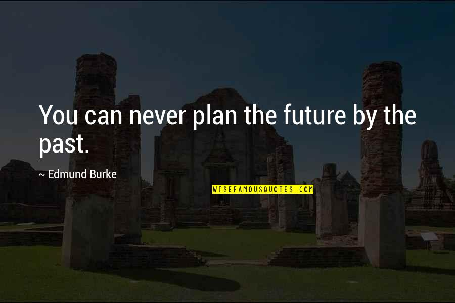 Plan For Your Future Quotes By Edmund Burke: You can never plan the future by the