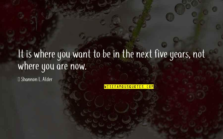 Plan For Your Future Quotes By Shannon L. Alder: It is where you want to be in
