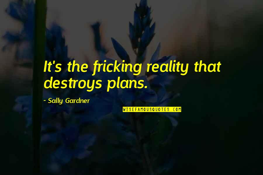 Planning A Project Quotes By Sally Gardner: It's the fricking reality that destroys plans.