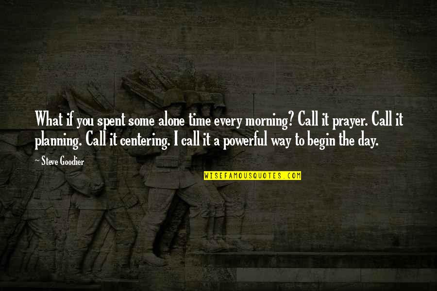 Planning Your Day Quotes By Steve Goodier: What if you spent some alone time every