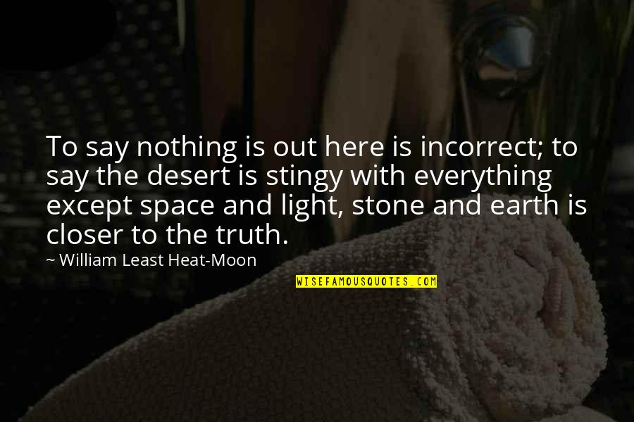 Plastic Injection Molding Quotes By William Least Heat-Moon: To say nothing is out here is incorrect;