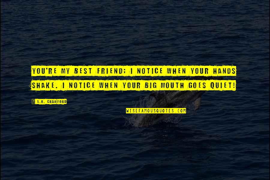 Plato And Aristotle Quotes By S.R. Crawford: You're my best friend; I notice when your