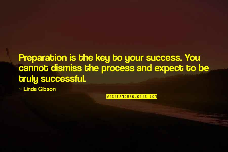 Playng Quotes By Linda Gibson: Preparation is the key to your success. You