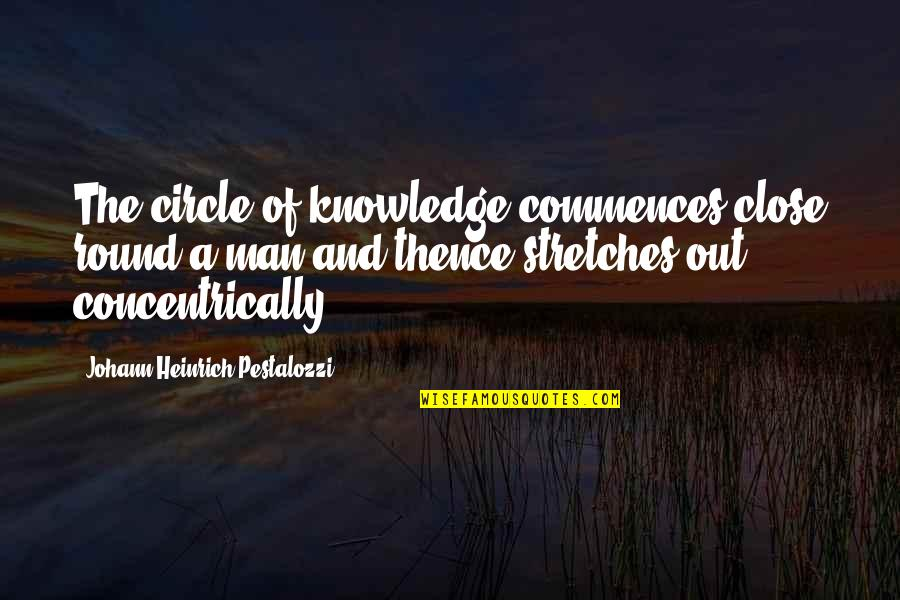 Playtime Quotes By Johann Heinrich Pestalozzi: The circle of knowledge commences close round a