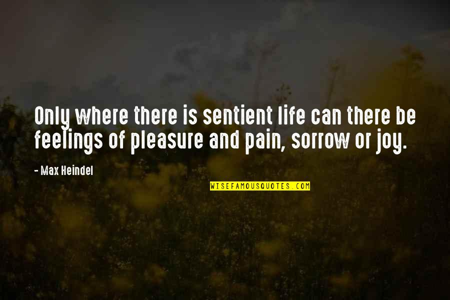 Pleasure And Joy Quotes By Max Heindel: Only where there is sentient life can there