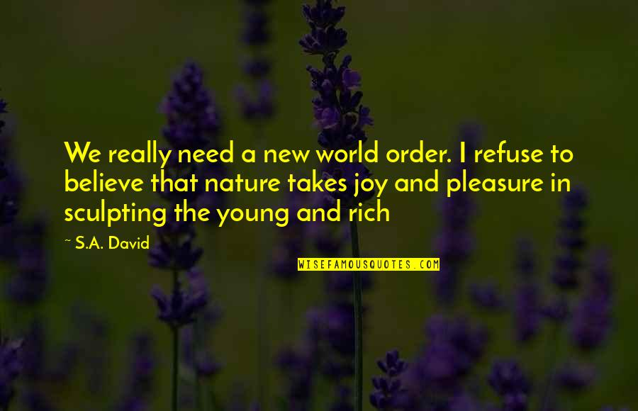 Pleasure And Joy Quotes By S.A. David: We really need a new world order. I