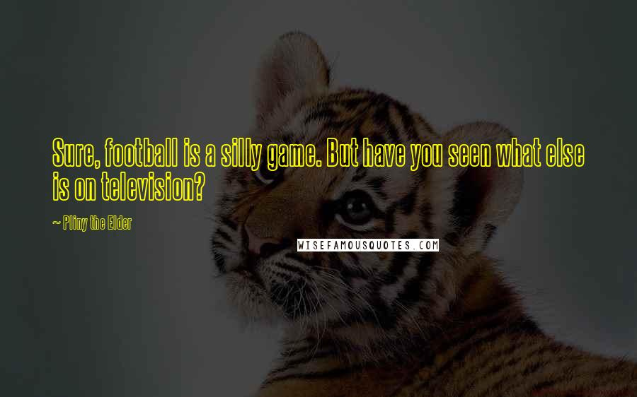 Pliny The Elder quotes: Sure, football is a silly game. But have you seen what else is on television?