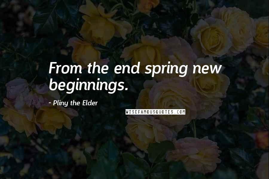 Pliny The Elder quotes: From the end spring new beginnings.