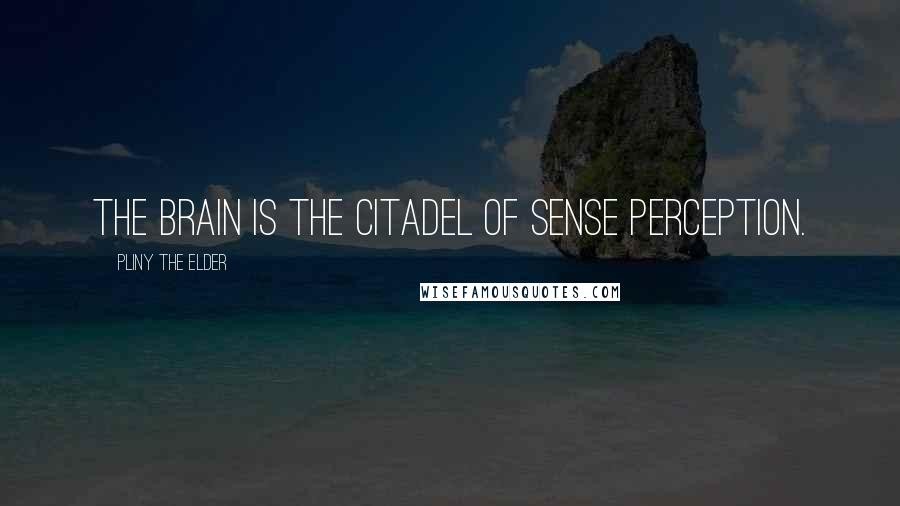 Pliny The Elder quotes: The brain is the citadel of sense perception.