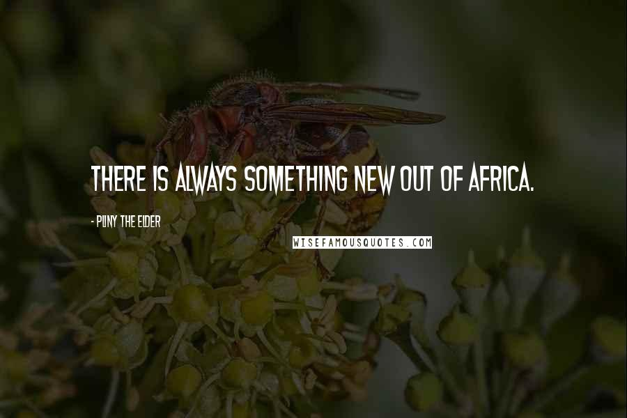 Pliny The Elder quotes: There is always something new out of Africa.