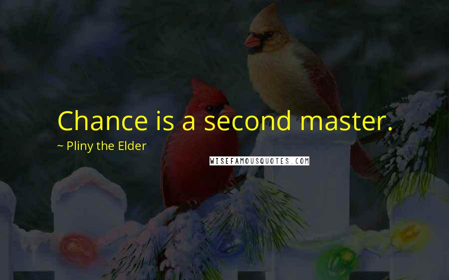 Pliny The Elder quotes: Chance is a second master.
