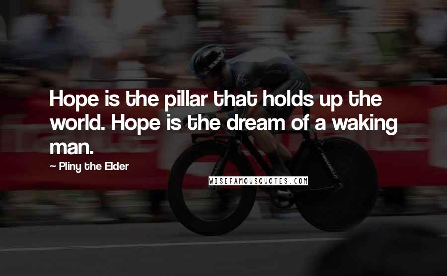 Pliny The Elder quotes: Hope is the pillar that holds up the world. Hope is the dream of a waking man.