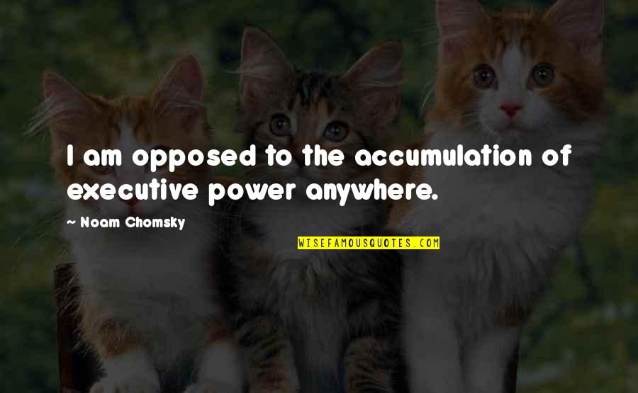 Plumaged Quotes By Noam Chomsky: I am opposed to the accumulation of executive