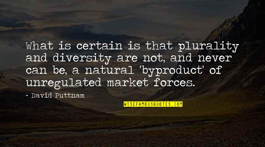 Plurality Quotes By David Puttnam: What is certain is that plurality and diversity