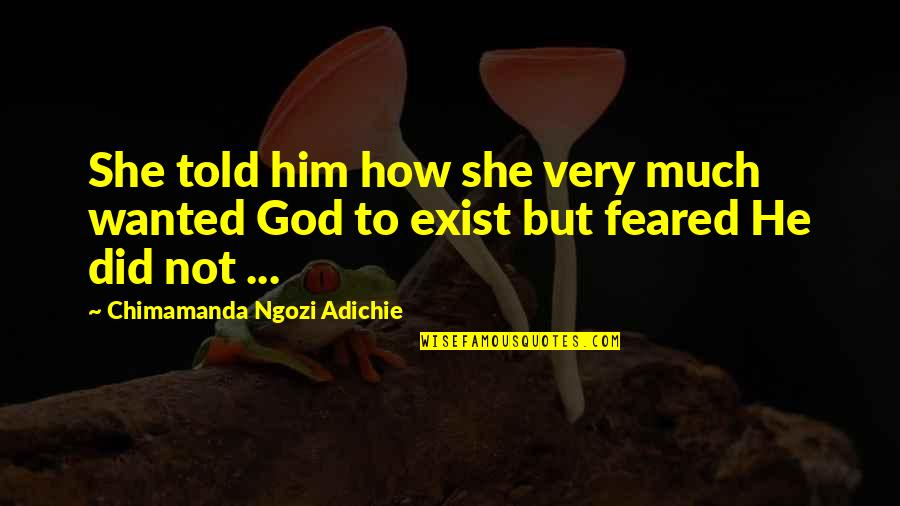 Poc Bible Quotes By Chimamanda Ngozi Adichie: She told him how she very much wanted