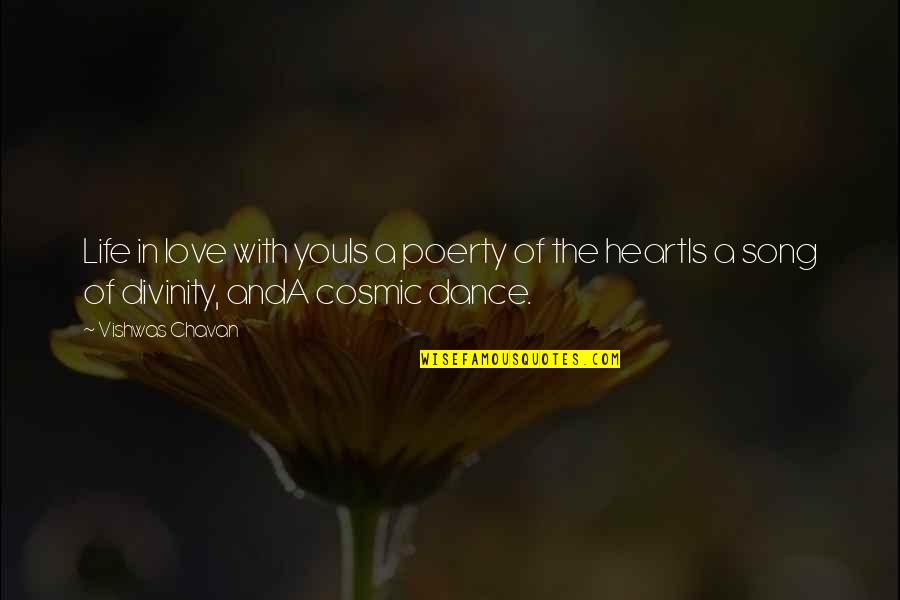 Poerty Quotes By Vishwas Chavan: Life in love with youIs a poerty of