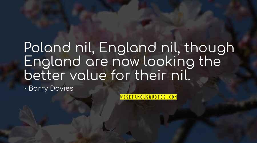 Poland Quotes By Barry Davies: Poland nil, England nil, though England are now