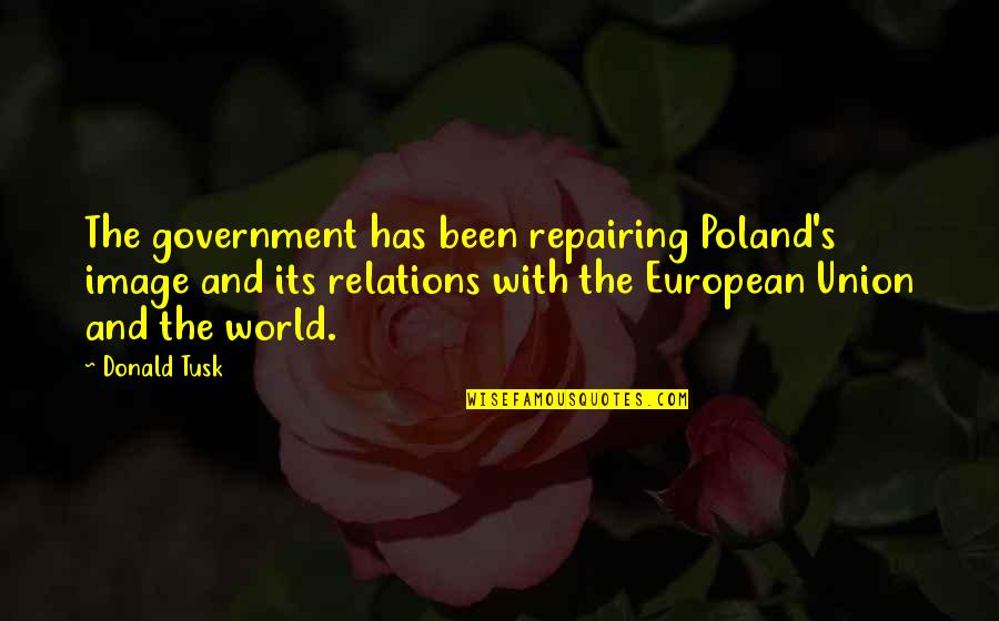 Poland Quotes By Donald Tusk: The government has been repairing Poland's image and