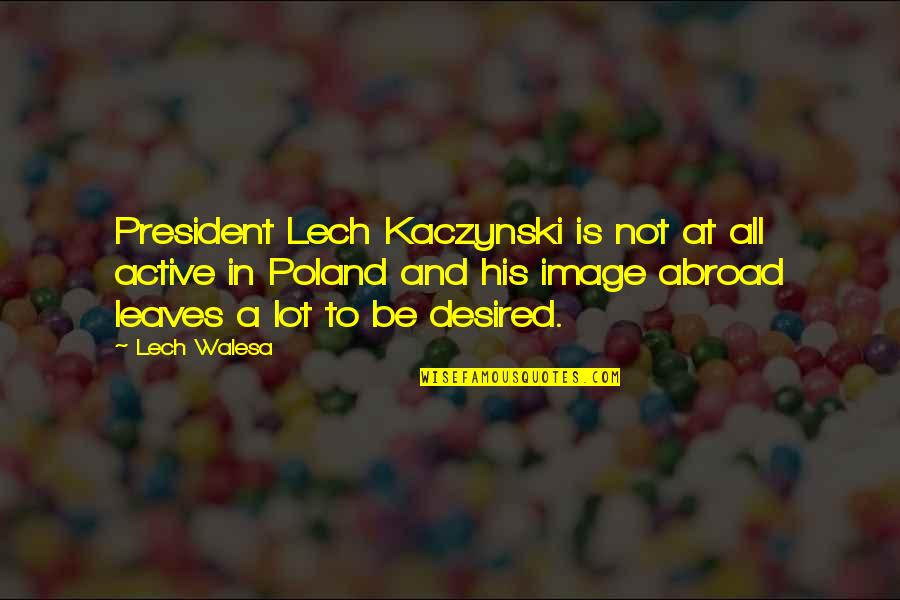 Poland Quotes By Lech Walesa: President Lech Kaczynski is not at all active