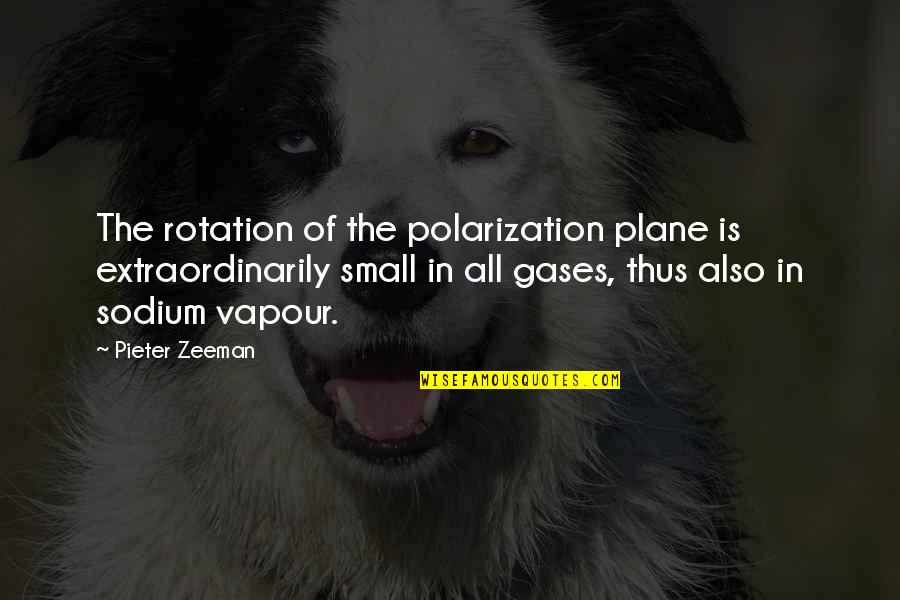 Polarization Quotes By Pieter Zeeman: The rotation of the polarization plane is extraordinarily