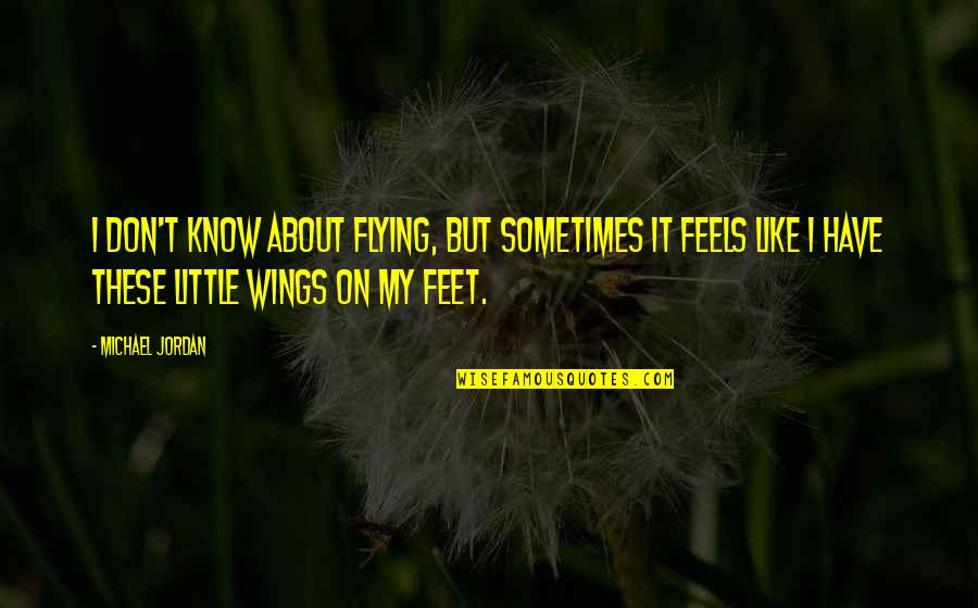 Political Strategies Quotes By Michael Jordan: I don't know about flying, but sometimes it