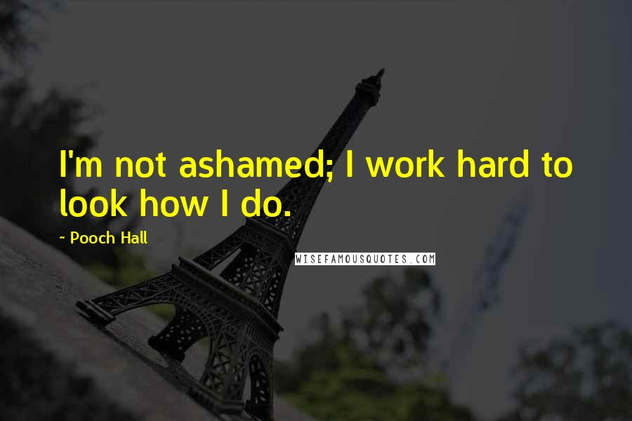 Pooch Hall quotes: I'm not ashamed; I work hard to look how I do.