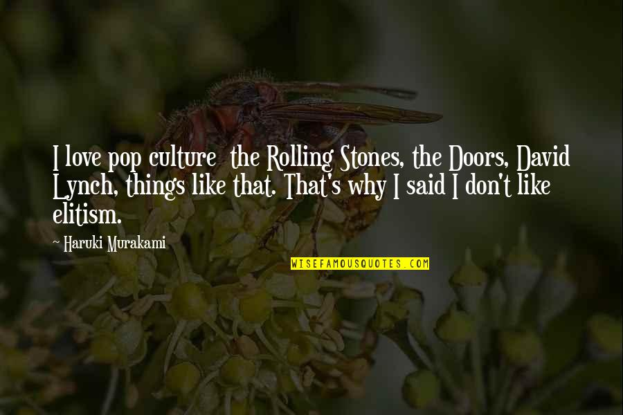 Pop Culture Love Quotes By Haruki Murakami: I love pop culture the Rolling Stones, the