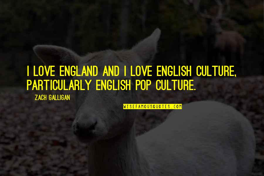 Pop Culture Love Quotes By Zach Galligan: I love England and I love English culture,