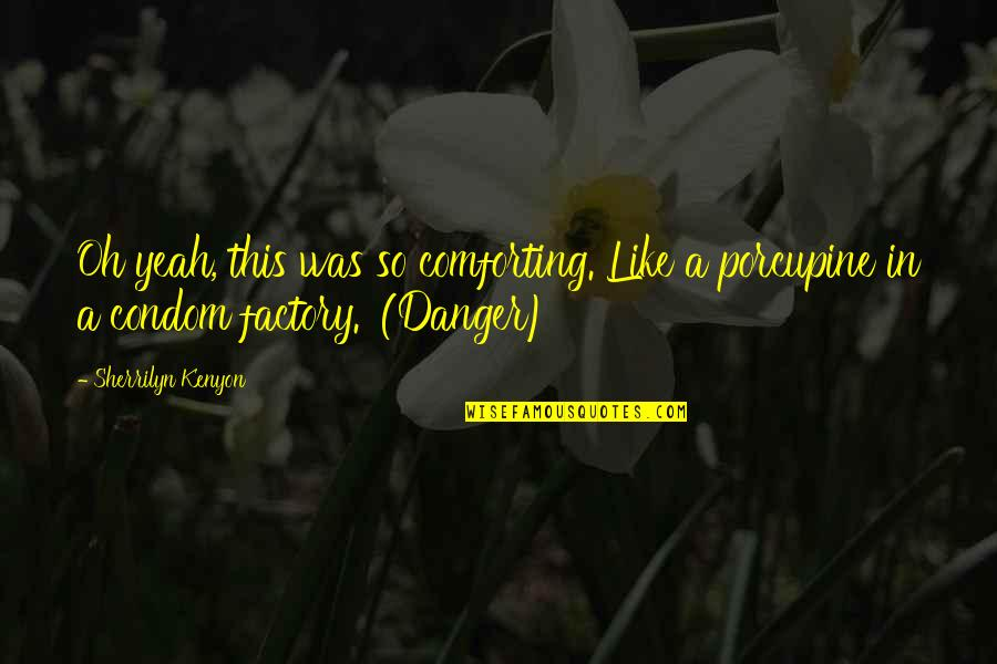 Porcupine Quotes By Sherrilyn Kenyon: Oh yeah, this was so comforting. Like a