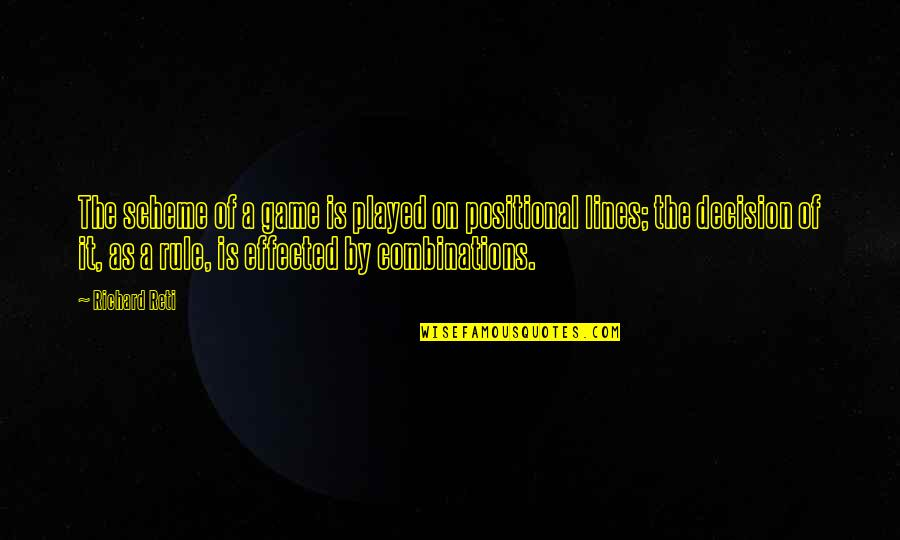 Positional Quotes By Richard Reti: The scheme of a game is played on
