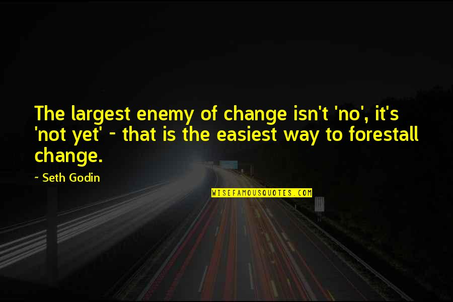 Positive Atomic Bomb Quotes By Seth Godin: The largest enemy of change isn't 'no', it's