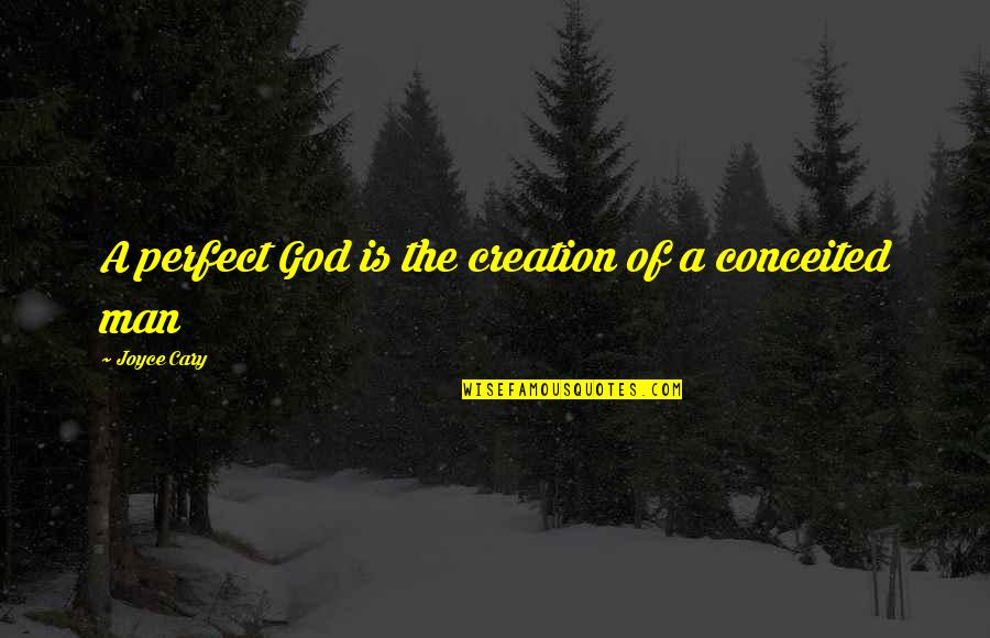 Positive Changes In Life Quotes By Joyce Cary: A perfect God is the creation of a