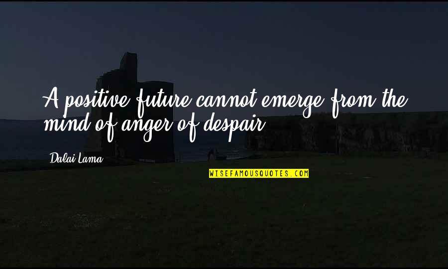 Positive Future Quotes By Dalai Lama: A positive future cannot emerge from the mind