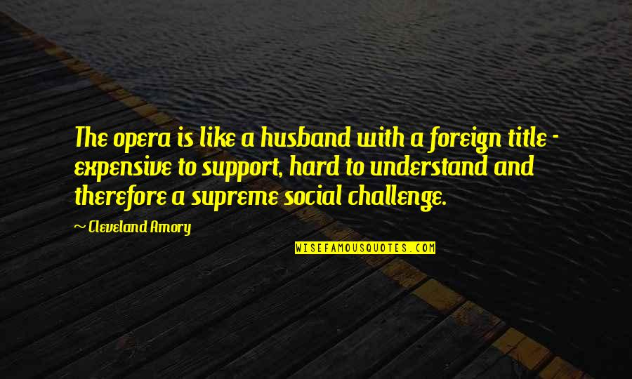 Positive Labour Quotes By Cleveland Amory: The opera is like a husband with a