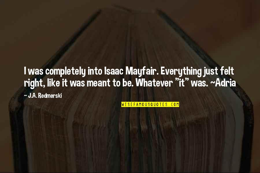 Positive Labour Quotes By J.A. Redmerski: I was completely into Isaac Mayfair. Everything just
