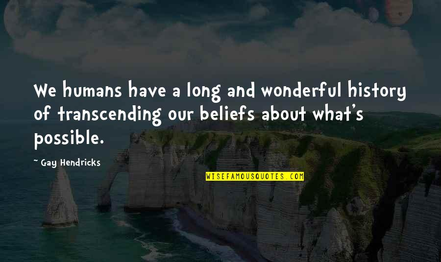 Possible's Quotes By Gay Hendricks: We humans have a long and wonderful history