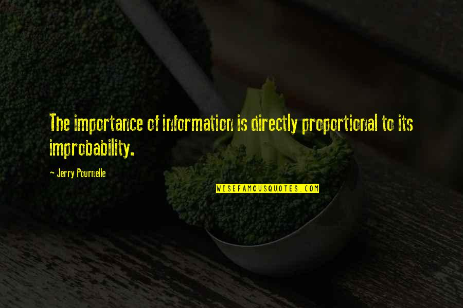 Pournelle's Quotes By Jerry Pournelle: The importance of information is directly proportional to