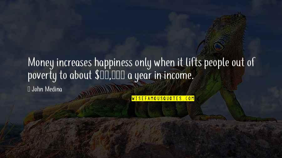 Poverty And Happiness Quotes By John Medina: Money increases happiness only when it lifts people