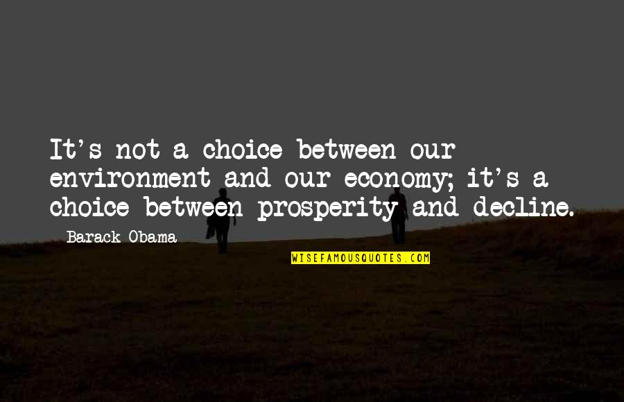 Ppl Who Take You For Granted Quotes By Barack Obama: It's not a choice between our environment and
